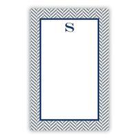 "Boatman Geller AZNP10-SI-W-D""Letter D"" Herringbone Single Initial Notepad"