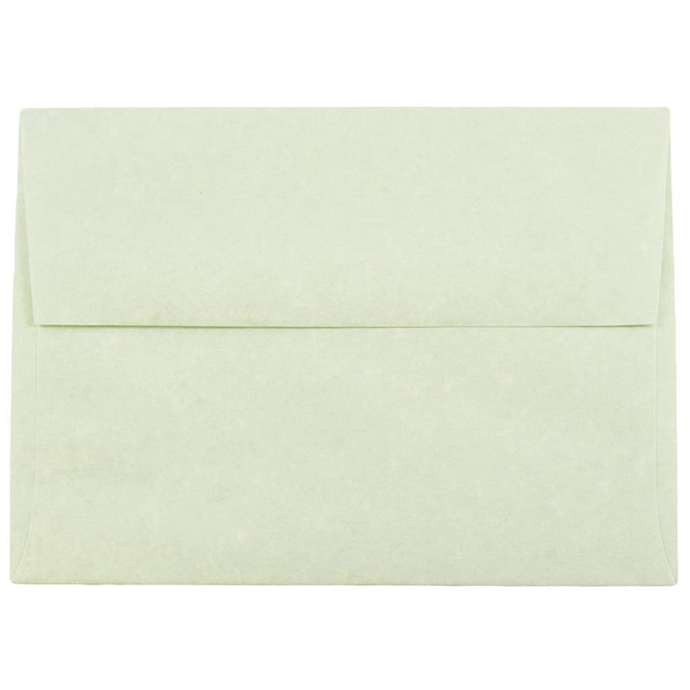 JAM PAPER A6 Parchment Invitation Envelopes - 4 3/4 x 6 1/2 - Green Recycled - 25/Pack