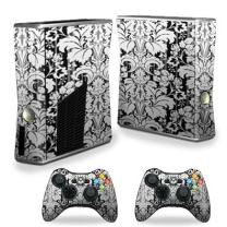 MightySkins Skin Compatible with X-Box 360 Xbox 360 S Console - Floral Retro | Protective, Durable, and Unique Vinyl Decal wrap Cover | Easy to Apply, Remove, and Change Styles | Made in The USA