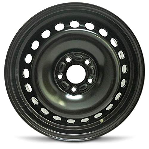 Road Ready Car Wheel for 2001-2009 Volvo S60 16 Inch 5 Lug Black Steel Rim Fits R16 Tire - Exact OEM Replacement - Full-Size Spare