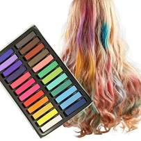 Mordely Hair Chalk Set for Kids and Pets Dog Hair Dye With Disposable Gloves and Cape,Mordely 24 Colors Washable Hair Dye Art Gift for Kids Holloween Party, and Birthday Party Easter Party& Cosplay