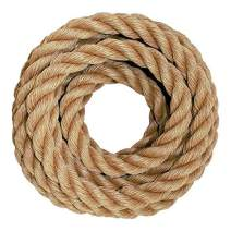 SGT KNOTS ProManila Rope (1.5 inch) UnManila Tan Twisted 3 Strand Polypropylene Cord - Moisture, UV, and Chemical Resistant - Marine, DIY Projects, Crafts, Commercial, Indoor/Outdoor (10 ft)