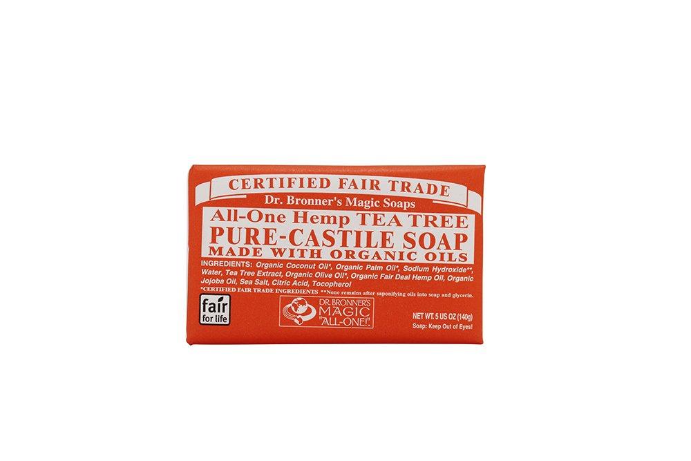 Dr. Bronner's Magic Soaps Hemp Tea Tree Pure-Castile Soap 5 Ounce 12 Pack