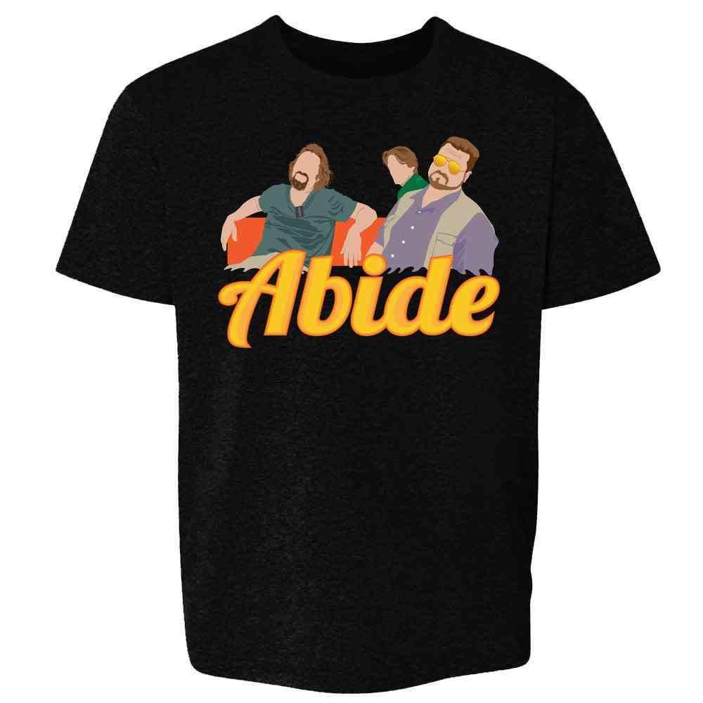 Pop Threads The Dude Abides Minimalist Youth Kids Girl Boy T-Shirt