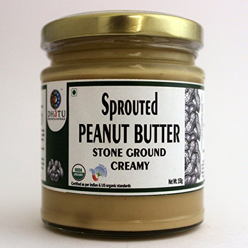 Organic Sprouted Peanut creamy natural butter Pure Indian taste cuisine Indian food - Quick cook, good for health 150g
