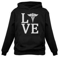Tstars - Love Nurse Registered Nurse RN Nurse Appreciation Women Hoodie X-Large Black