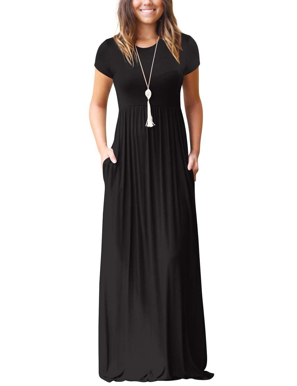 Maxi Dresses for Women Casual Loose Long Dress with Pockets Tall Dress S-XXL