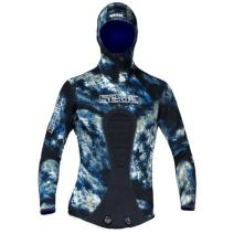 SEAC Men's Kobra Ocean Neoprene Wetsuit Jacket, Blue Camouflage