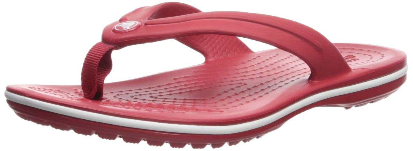 Crocs Kids' Grade School Crocband Flip | Slip On Water Shoes for Toddlers, Boys, Girls, Pepper, 2 M US Little Kid