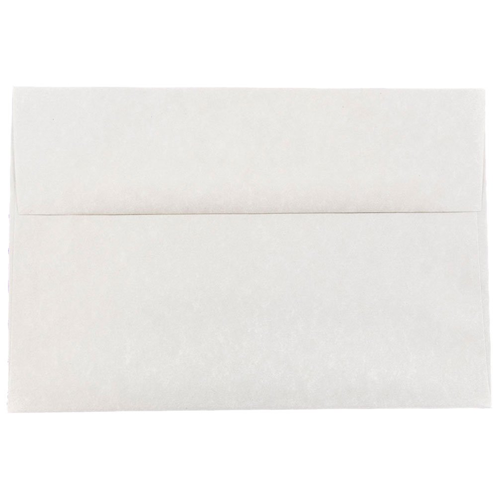 JAM PAPER A8 Parchment Invitation Envelopes - 5 1/2 x 8 1/8 - Pewter Gray Recycled - 25/Pack