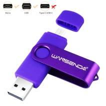 USB Thumb Drive Wansenda USB Photo Stick Back to School Keychain USB Flash Drive 16GB 32GB 64GB 128GB 256GB for Android Devices/PC/Tablet/Mac (16GB, Purple)