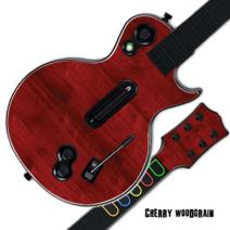 Mightyskins Protective Skin Decal Cover Sticker Compatible with Guitar Hero 3 III PS3 Xbox 360 Les Paul - Cherry Woodgrain