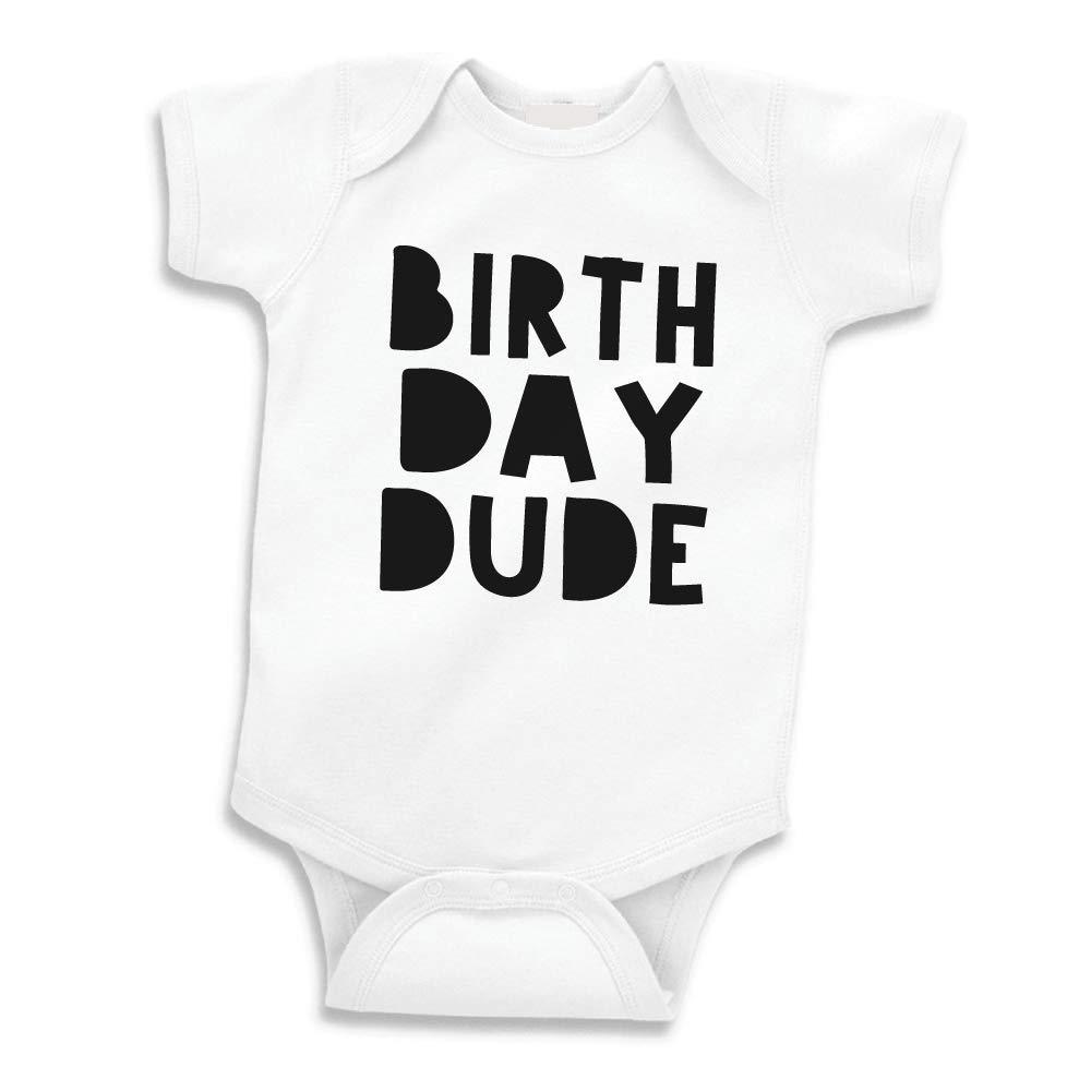 Bump and Beyond Designs Boy First Birthday Shirt, Birthday Dude Bodysuit