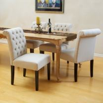 Christopher Knight Home CKH Fabric Dining Chairs, 2-Pcs Set, Natural