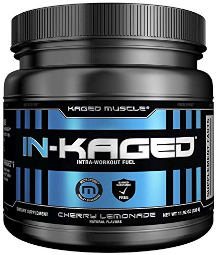 Intra workout BCAA Powder, Kaged Muscle IN-KAGED Intra Workout Drink, Amino Energy Drink for Weights & Cardio; Intra Workout Powder to Boost Performance & Endurance While You Exercise; Cherry Lemonade