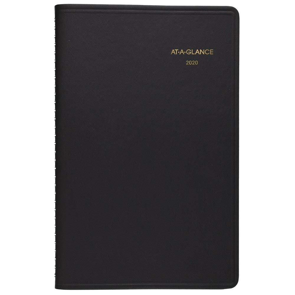 """AT-A-GLANCE 2020 Weekly Planner/Appointment Book, 5-1/2"""" x 8-1/2"""", Small, Black (7010005), 701000520"""