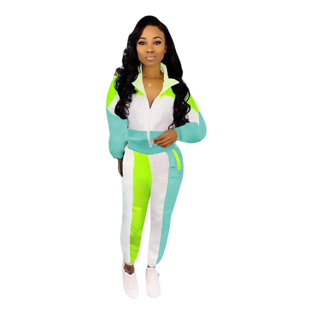 VOIKERDR 2 Piece Tracksuit Shorts for Women Athletic Tops and Striped Pants Tracksuit Set