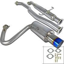 "Spec-D Tuning MFCAT2-TC05T-SD Scion Tc 2.5"" Inlet SS Titanium Burnt Tip Catback Exhaust System"