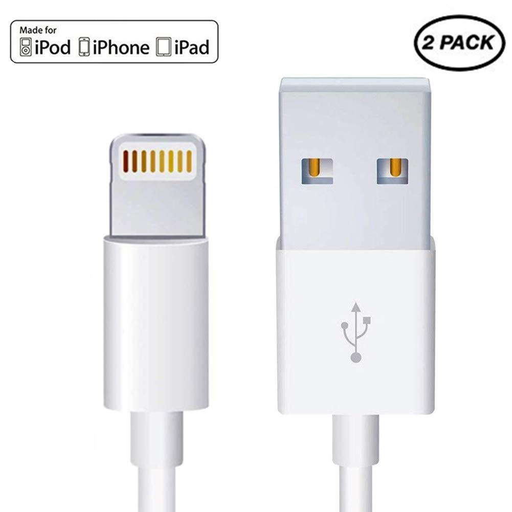 (2 Pack)[MFI Original Charger Cable] Lightning Cable Apple iPhone/iPad Charger Cable Charging Cord USB Fast Charging Wire Compatible iPhone iPhone Xs max/xr/x/8/7/6/5s,iPad,iPod[1M/3.3FT]