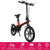 """16"""" New Foldable Electric Mountain Bike 200W with Removable 36V 5.2AH Lithium-Ion Battery Beach Snow Bicycle Ebike"""