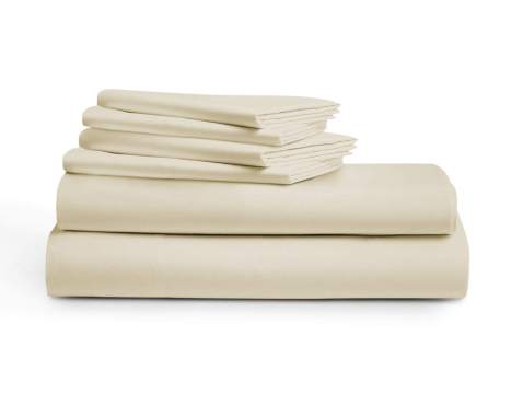 Fits Mattress Upto 16Deep Pocket Extra Soft Luxurious Bedding Collection Sateen Weave 1000 Thread Count 100/% Egyptian Cotton Bed Sheets Full Size 4 Pc Ivory Sheet Set Long Staple Cotton