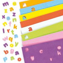 Baker Ross Self-Adhesive Foam Multi-Colored Lowercase Alphabet Decoration Stickers | Educational and Fun Arts and Crafts Project | No Glue or Scissors Needed | Pack of 1,100 Letters
