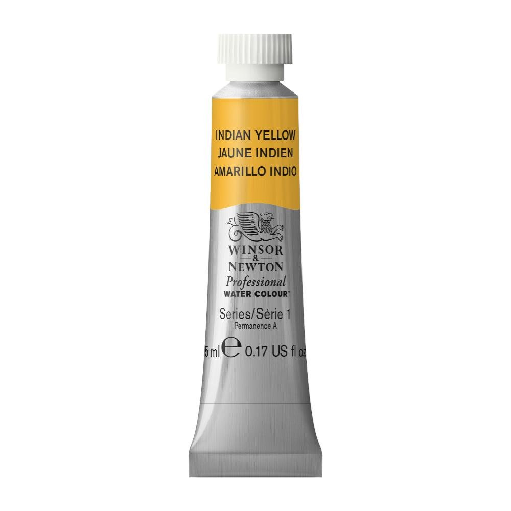 Winsor & Newton Professional Water Colour Paint, 5ml tube, Indian Yellow