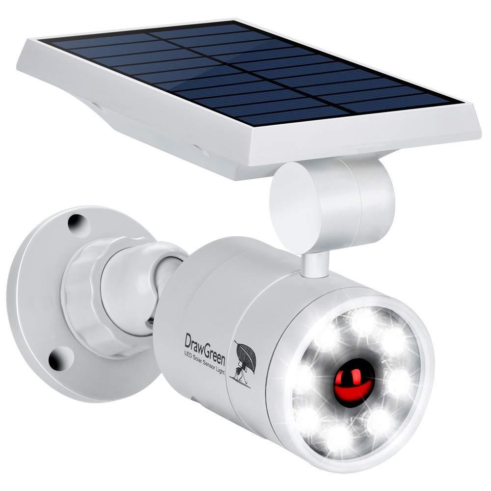 DrawGreen DG08-A Solar Outdoor Motion Sensor,1400-Lumens Bright LED Spotlight 5W(110W Equiv.) Light, White