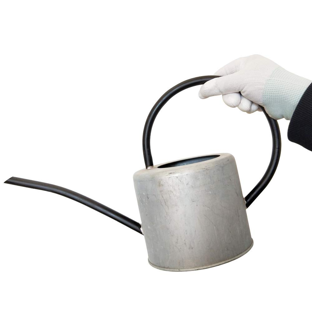 Calunce Long Spout Watering Can Rustic Retro Textured Metal Gardening Tool 57oz/1.7L(Old zinc Color)