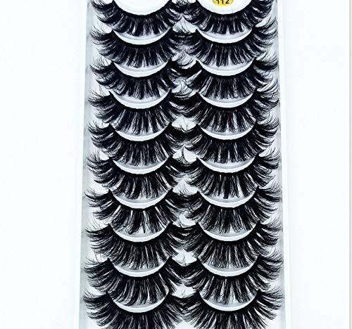 HBZGTLAD 38 Styles 10 pairs natural false eyelashes fake lashes long makeup 3d mink lashes extension eyelash mink eyelashes for beauty (3D112)