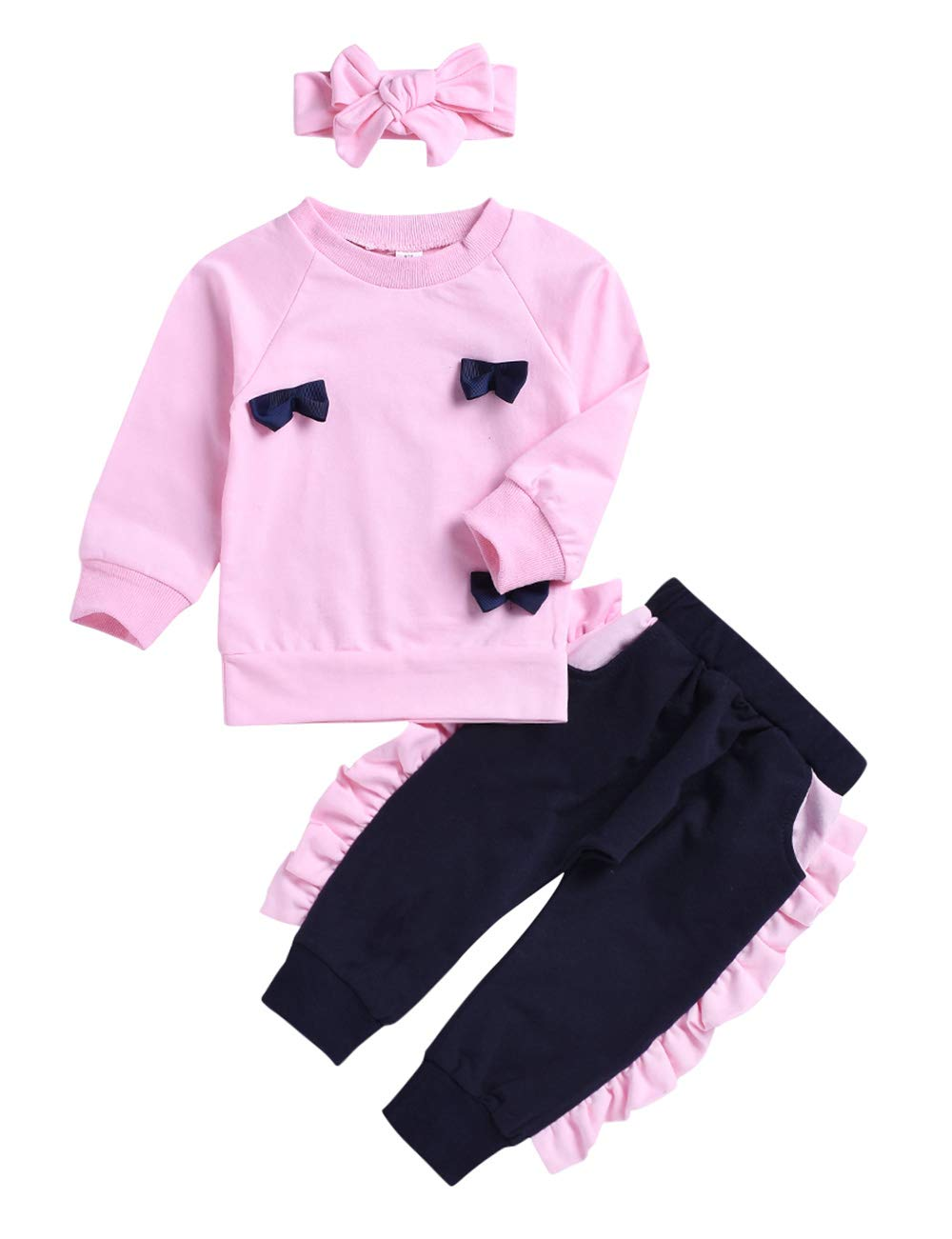 oklady Toddler Girls Clothes Outfits Flower Ruffle Top Ripped Jeans Baby Girl Fall Winter Clothes Sets