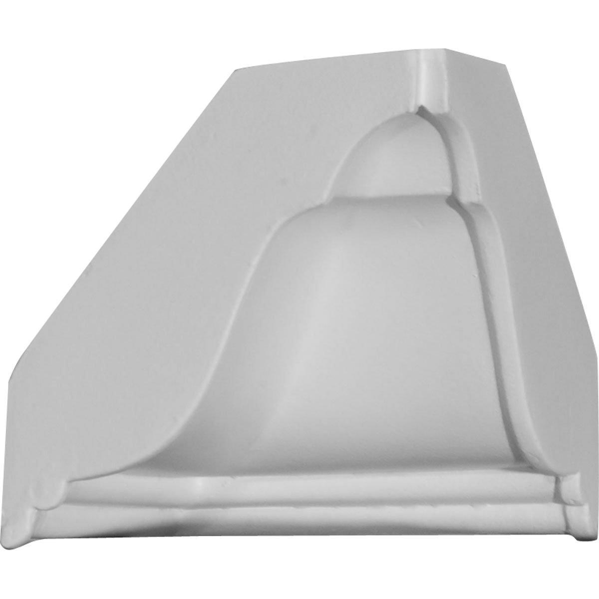 "Ekena Millwork MIC04X04BX Inside Corner for Moulding Profiles, 4 3/4""W x 4 7/8""H, White"