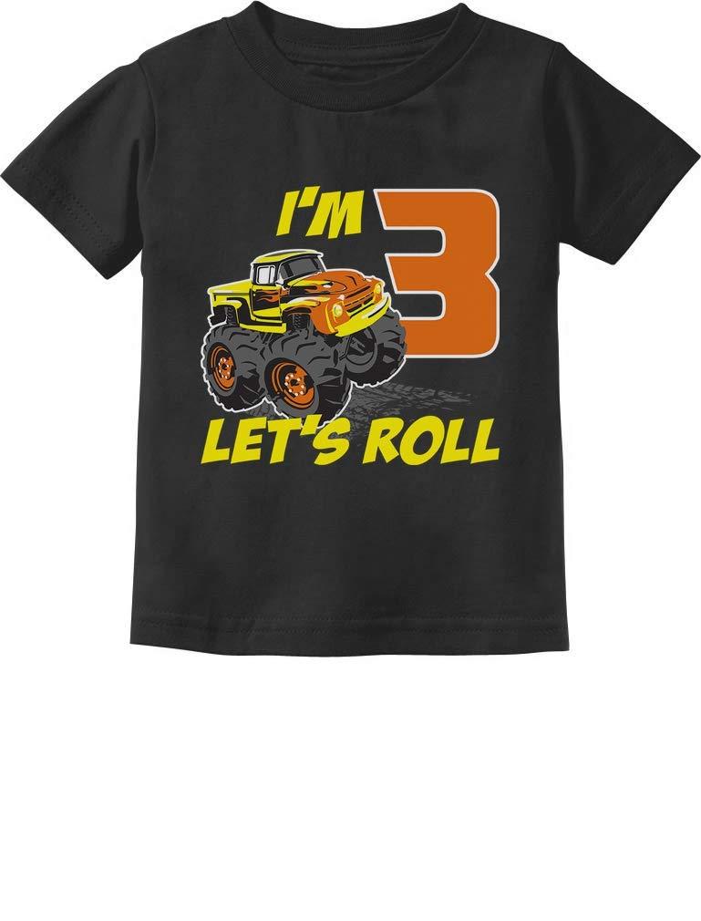 Birthday Gift for 3 Year Old Boy Truck 3rd Birthday Boys Toddler Kids T-Shirt