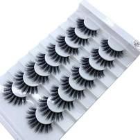 HBZGTLAD new 8 pairs of natural false eyelashes long makeup 3d mink eyelashes extend eyelashes (B07)