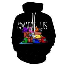 3D Game Among Us Hoodie Sweatshirt Adult Casual Pullover T-Shirt Impostor Sweater for Boys/Girls Teens Kids Wear