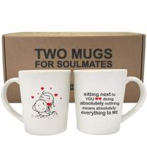 BOLDLOFT You Mean Everything to Me His and Hers Coffee Mugs- Couple Coffee Mugs,Couple Gifts,Gifts for Boyfriend and Girlfriend,Husband and Wife,Anniversary Christmas Valentines Day Wedding Newlyweds