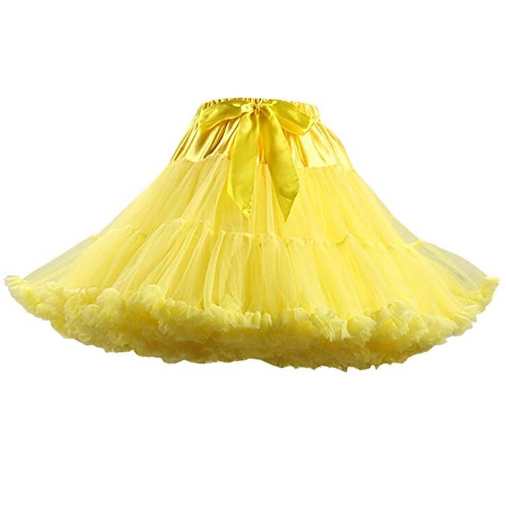FOLOBE Women's Soft Puffy Tulle Petticoat Costume Ballet Dance Short Tutu Skirts Multi-Layer