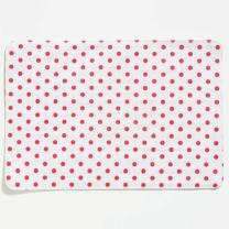 Vietri Old St. Nick Reversible Placemat, White Striped & Red Dotted Sides