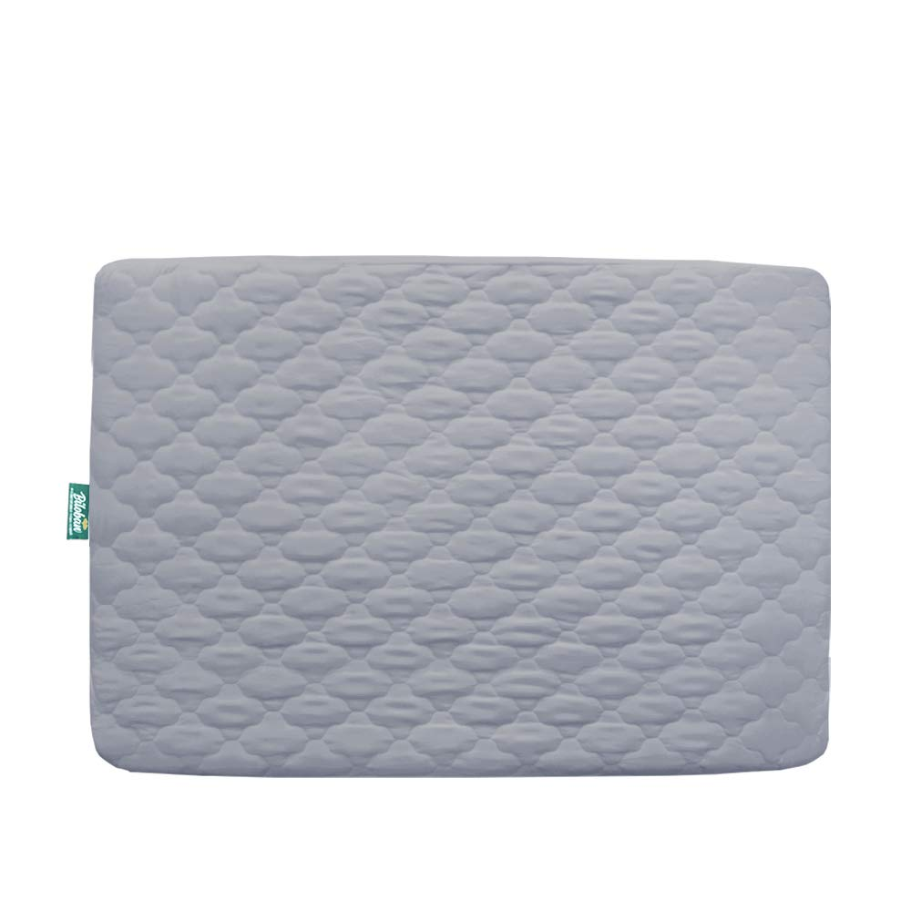 """Pack n Play Mattress Protector Waterproof, Premium Quilted Playard Sheet Cover 39"""" X 27"""" fits for Baby Foldable and Playard Mattress, Portable Mini Crib, Gray"""