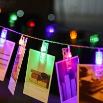 Photo Clips String Lights,Reabeam,Twinkle Light,40Clip,Wedding Anniversary Party,Home,Bar, Coffee Shop,Christmas Halloween Colorful Decor Lights,Battery Powered for Hanging Pictures,Notes,Memos