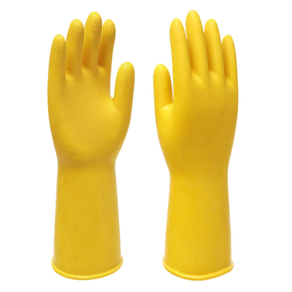 Mulfei 3 Pairs Reusable Cleaning Gloves Extra Thickness Rubber Household Gloves for Kitchen,Working,Gardening,Car Wash