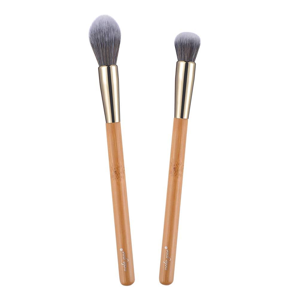 vela.yue Concealer Brushes Set Precision Face Shape Highlighter Blender 2pcs Makeup Brush