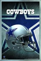 """Trends International NFL Dallas Cowboys - Helmet, 22.375"""" x 34"""", Silver Framed Version"""