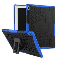 """Lenovo Tab 4 10 2017 Case, Lantier Hybrid Armor Shockproof Impact Protection Tough Hard Rugged Heavy Duty Combo Dual Layer Protective Case Cover with Kickstand for Lenovo Tab 4 10.1"""" TB-X304F/N Blue"""