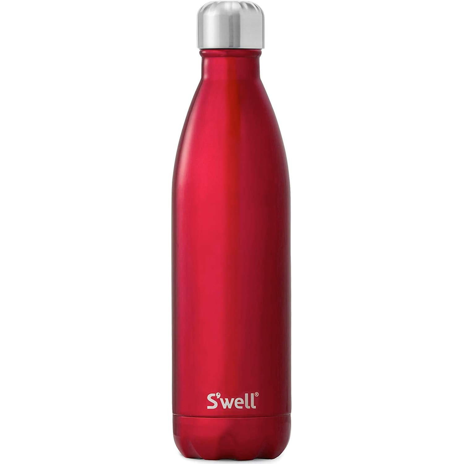 S'well Stainless Steel Water Bottle - 25 Fl Oz - Rowboat Red - Triple-Layered Vacuum-Insulated Containers Keeps Drinks Cold for 54 Hours and Hot for 26 - with No Condensation - BPA Free Water Bottle