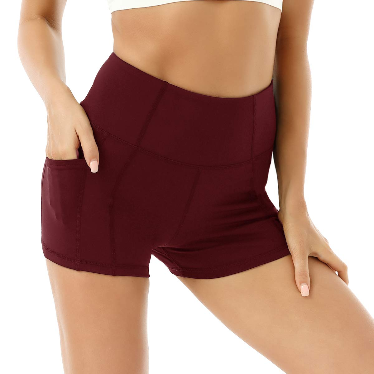 TYUIO Biker Shorts for Women High Waisted Gym Workout Running Athletic Yoga Pant