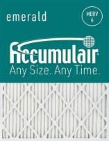 Accumulair Emerald 24x28x4 (Actual Size) MERV 6 Air Filter/Furnace Filters (4 pack)