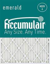 Accumulair FC12X24_4 MERV 6 Rating Air Filter/Furnace Filters, 12x24x1 (11.5 x 23.5) - 4 pack