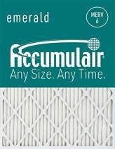Accumulair FC17X22_4 MERV 6 Rating Air Filter/Furnace Filters, 17x22x1 (16.5 x 21.5) - 4 pack