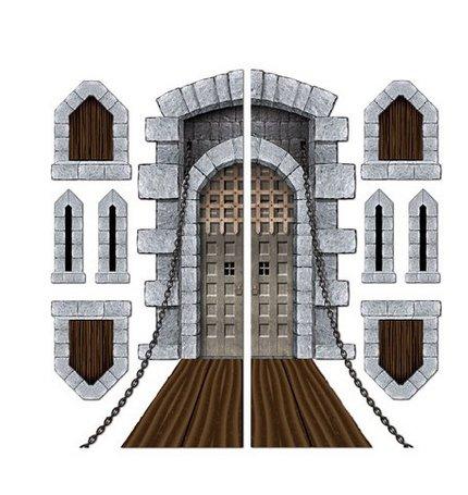 Castle Door & Window Props Party Accessory (1 Count)(9/pkg) Pkg/3